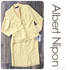 NWT ALBERT NIPON 2 Piece Skirt Suit Sz 6 $395!